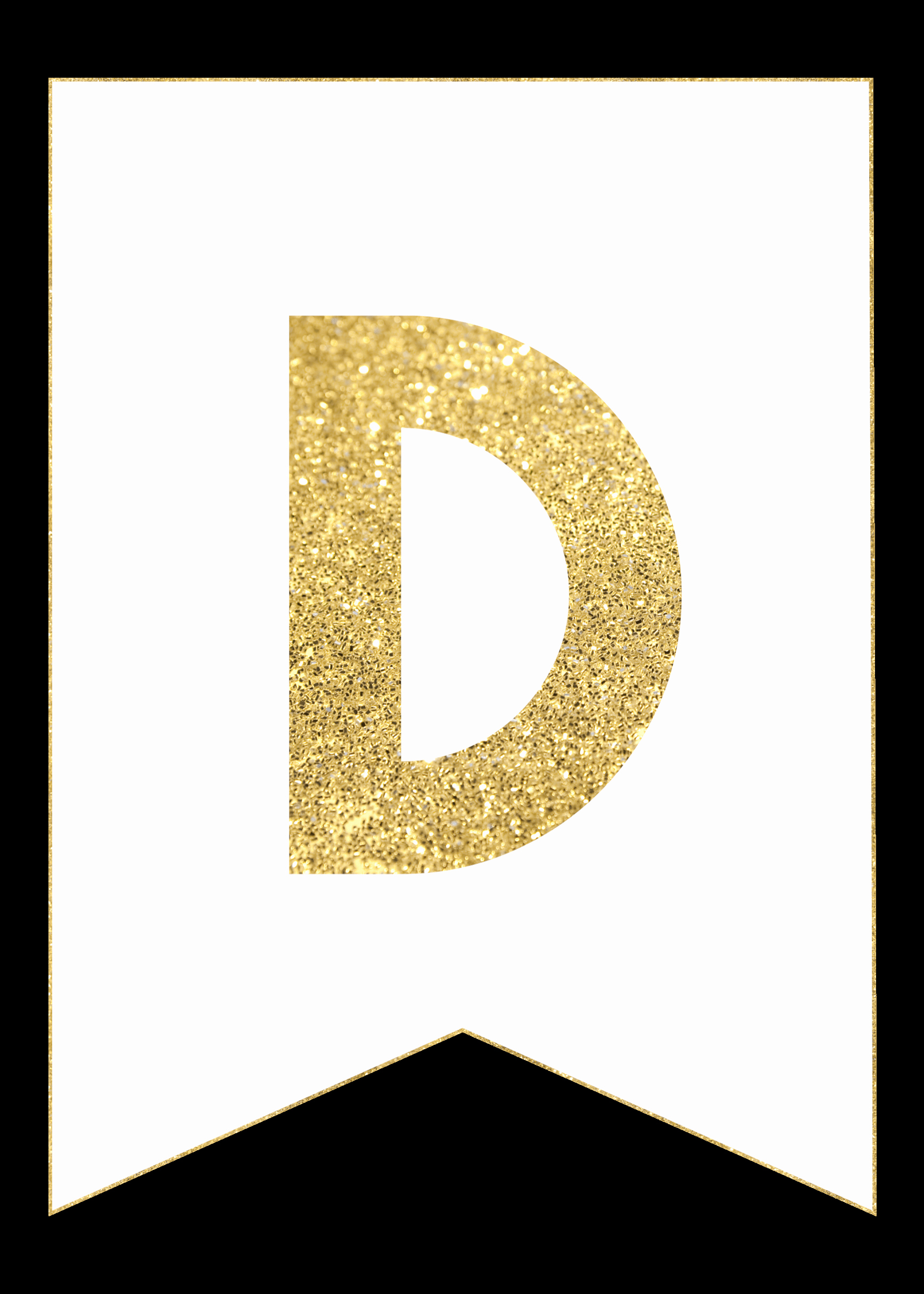 Letter Template for Banners Lovely Gold Free Printable Banner Letters Paper Trail Design
