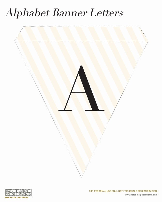 Letter Template for Banners Unique Free Printable Alphabet Banner for All Occasions