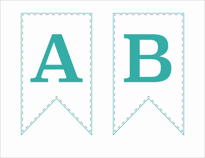 Letter Template for Banners Unique Free Printable Bunting Banner Just A Girl and Her Blog