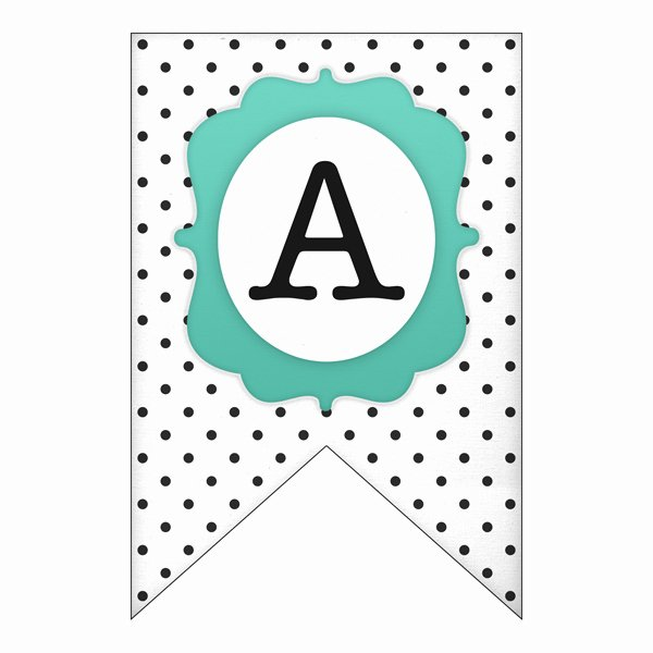 Letter Template for Banners Unique Free Printable Polka Dot Banner Set