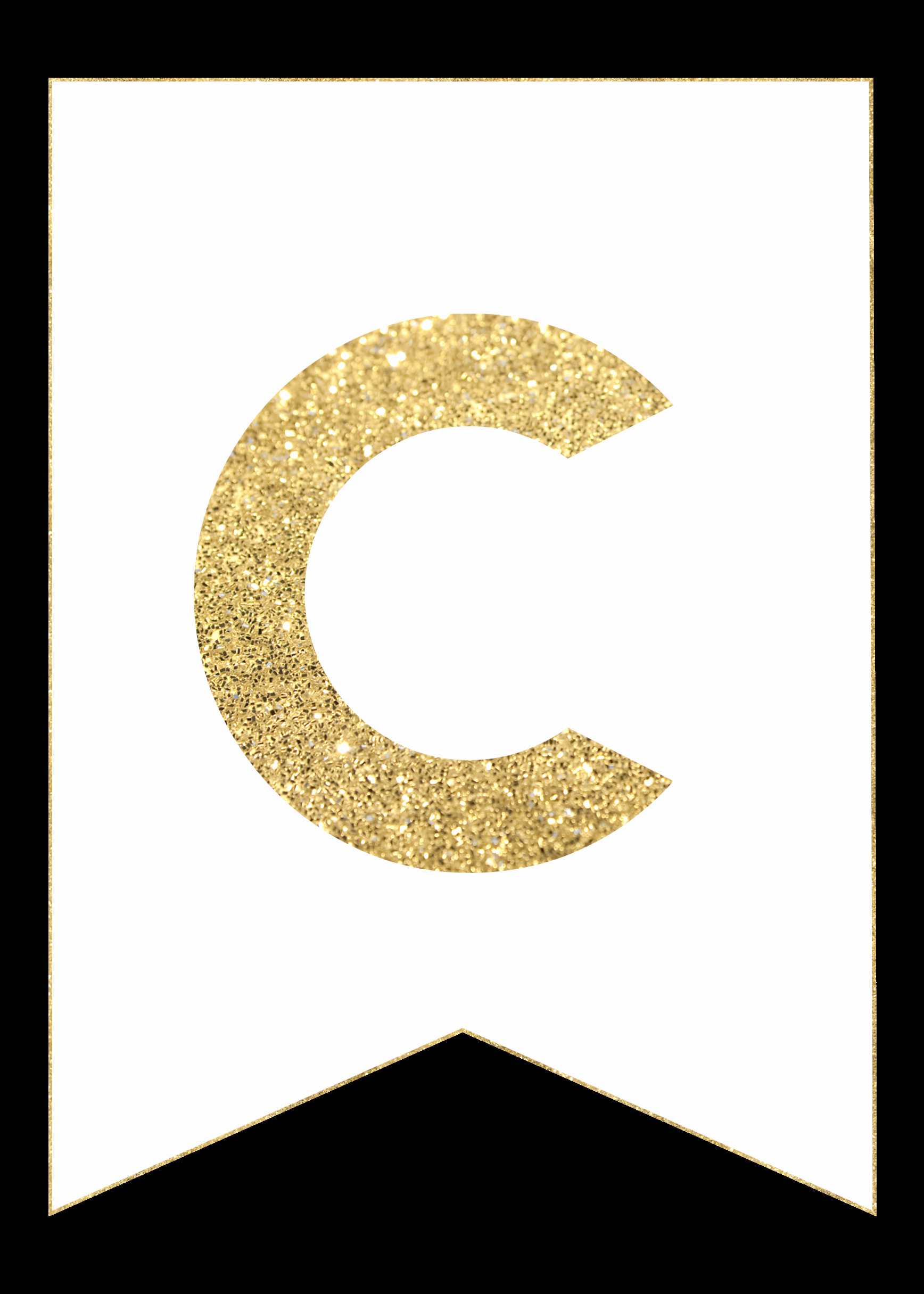 Letter Template for Banners Unique Gold Free Printable Banner Letters Paper Trail Design