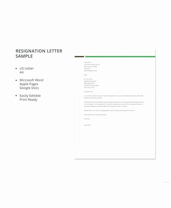 Letter Template Google Docs Unique 12 Simple Resignation Letters Pdf Word Apple Pages