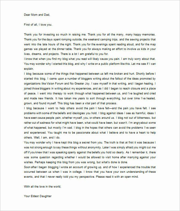 Letter to Parent Template New 6 Thank You Letter to Parents Pdf Doc