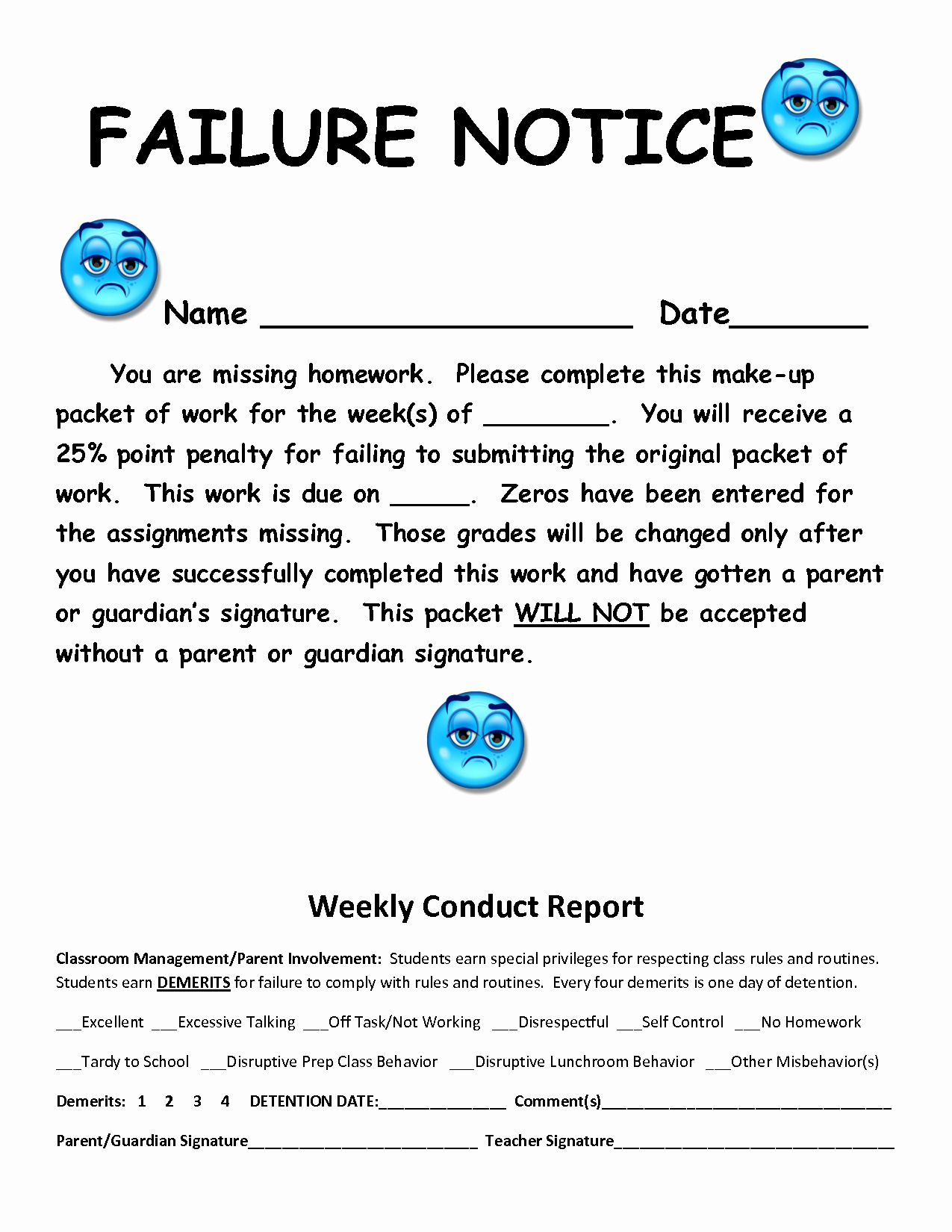 Letter to Parents Template Best Of Failure Letter to Parents Template Templates Station