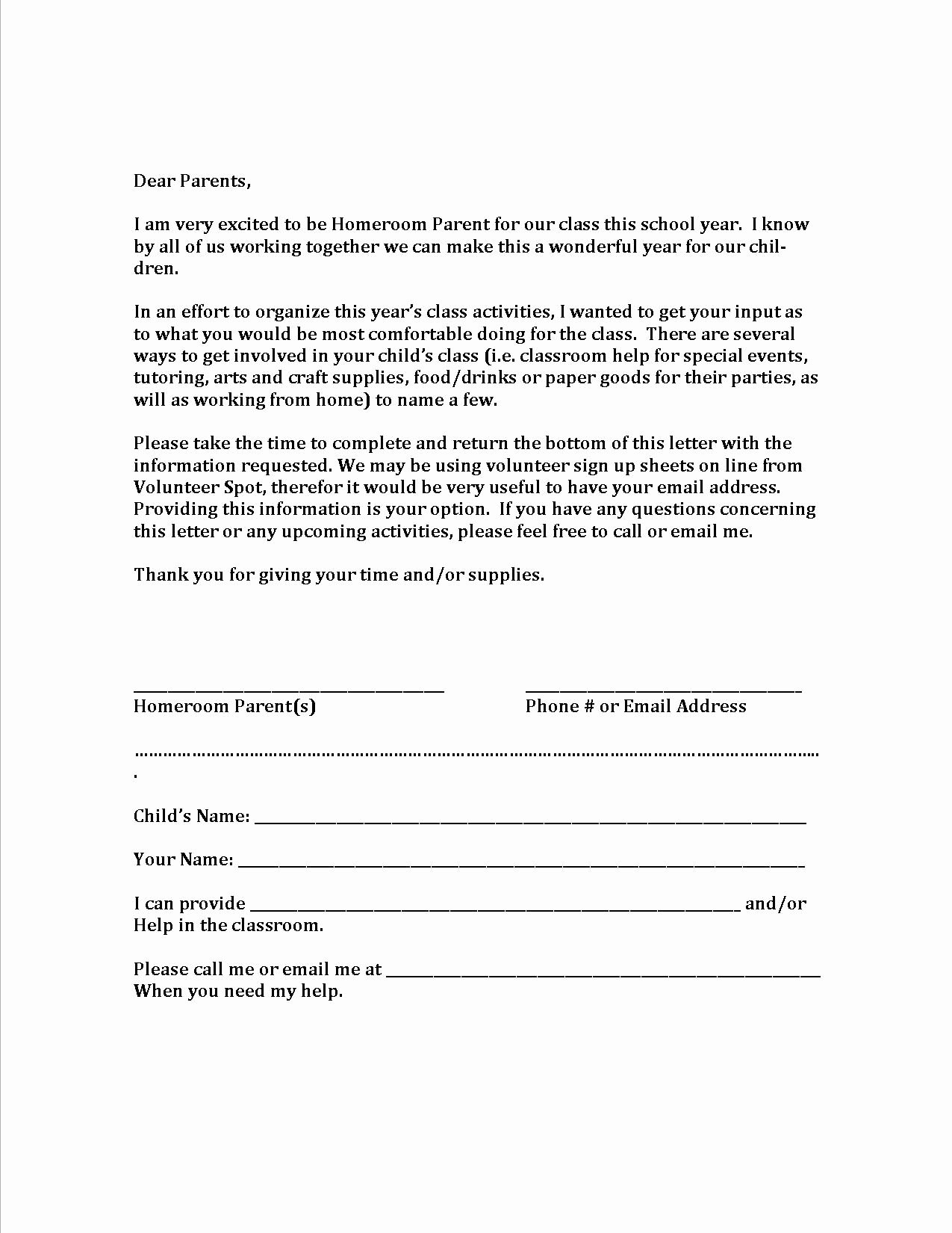 Letter to Parents Template Elegant Volunteer Letter Template Hdvolunteer Letter Template