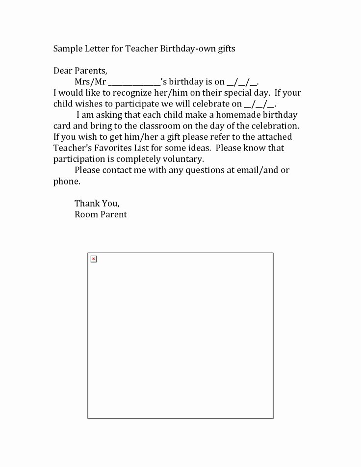 Letter to Parents Template Fresh Teacher Templates Letters Parents