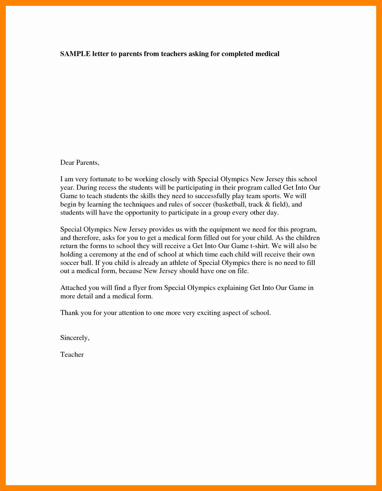 Letter to Parents Template Inspirational 4 Teacher Introduction Letter to Parents Template