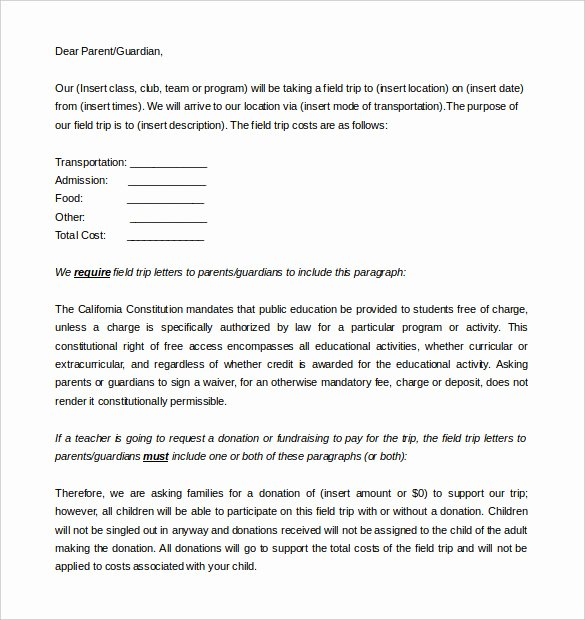 Letter to Parents Template Lovely 8 Parent Letter Templates Free Sample Example format