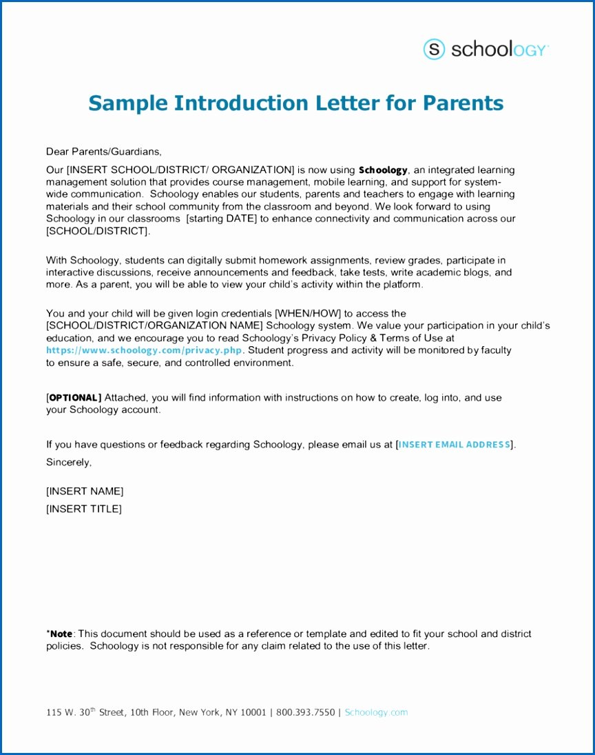 Letter to Parents Template New A Teachers Introduction Letter to Parents Choice Image