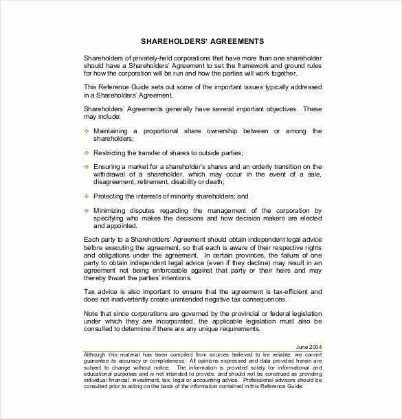 Letter to Shareholders Template Awesome 13 Holder Agreement Templates – Free Sample Example