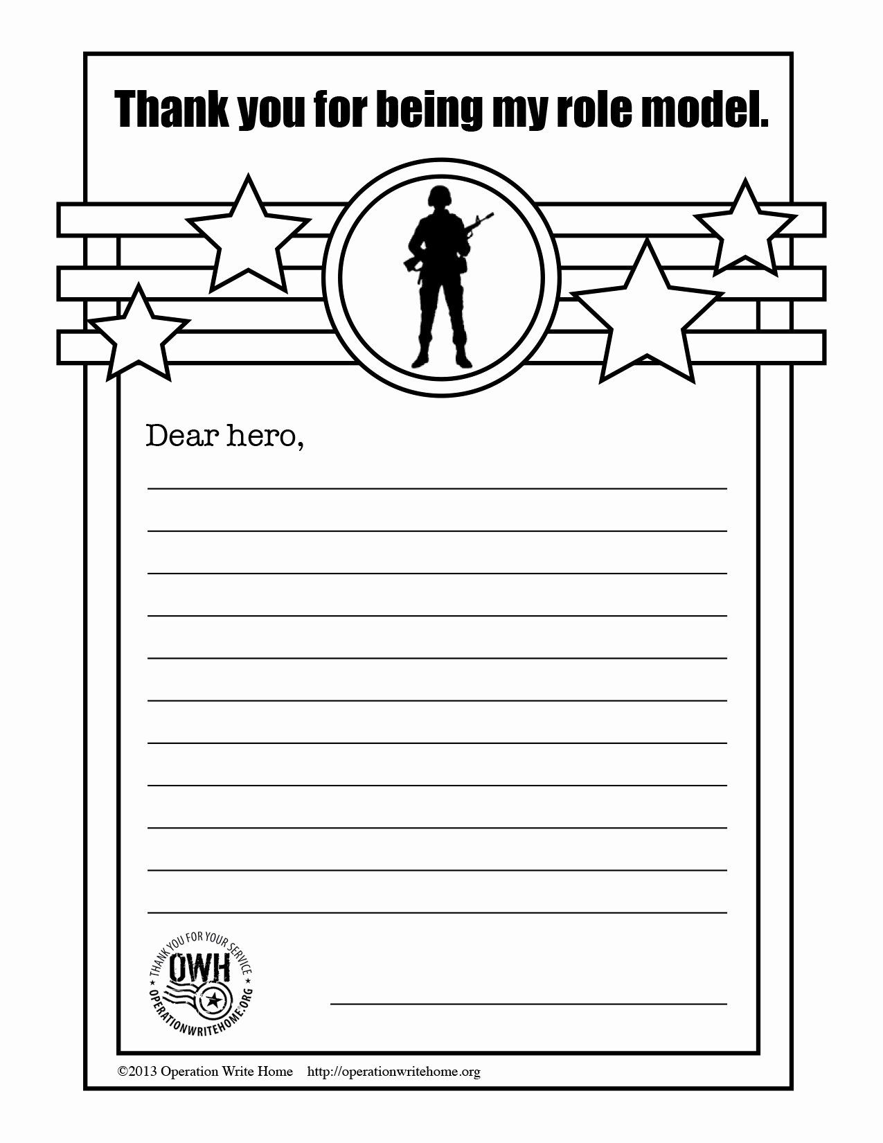 Letter to soldier Template Fresh Marine sol R Coloring Thank You Military Pages Grig3
