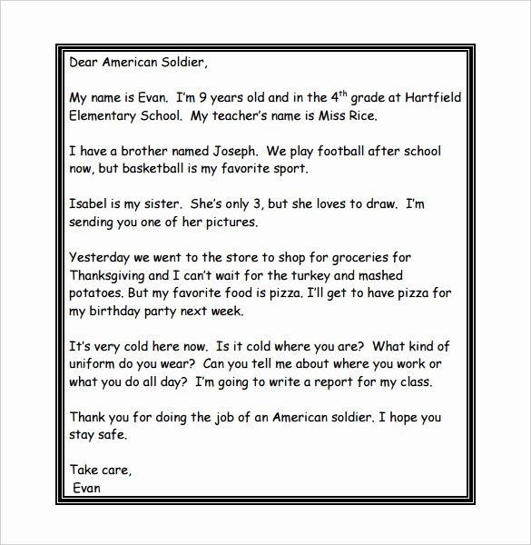 Letter to soldier Template Lovely 8 Thank You Letter Templates – Doc Pdf
