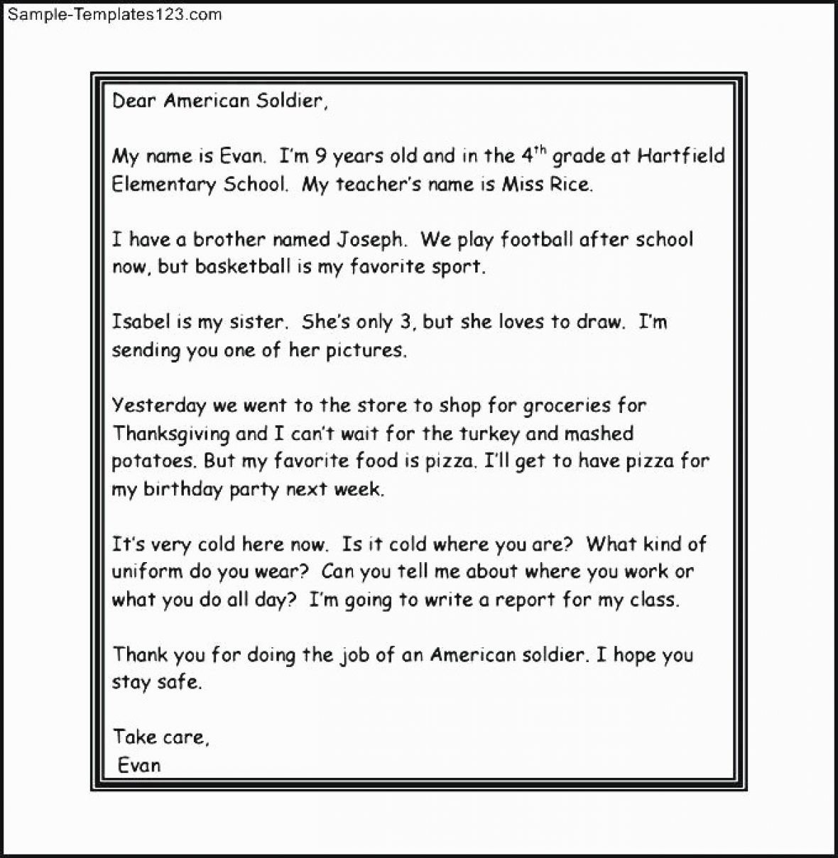 how to write a letter to a sol r template