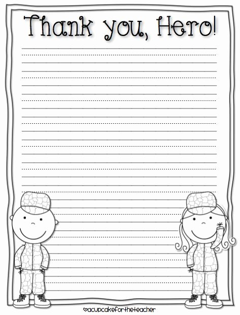 Letter to soldiers Template Awesome 4 Pinterest Celebrate Veterans Day Primary School Kids