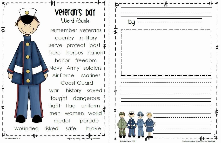 Letter to soldiers Template Awesome Sailing Through 1st Grade Veteran S Day Freebie