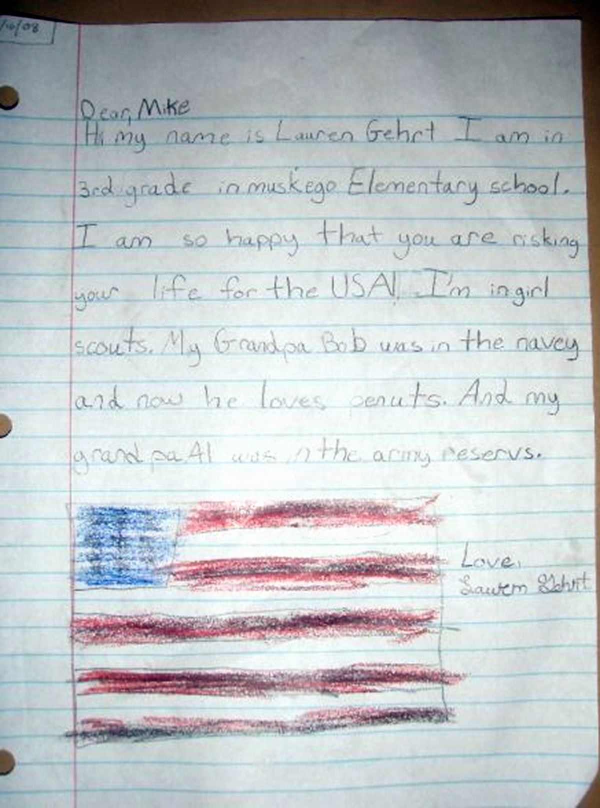 Letter to soldiers Template Elegant 12 Cute Letters From Kids to sol Rs