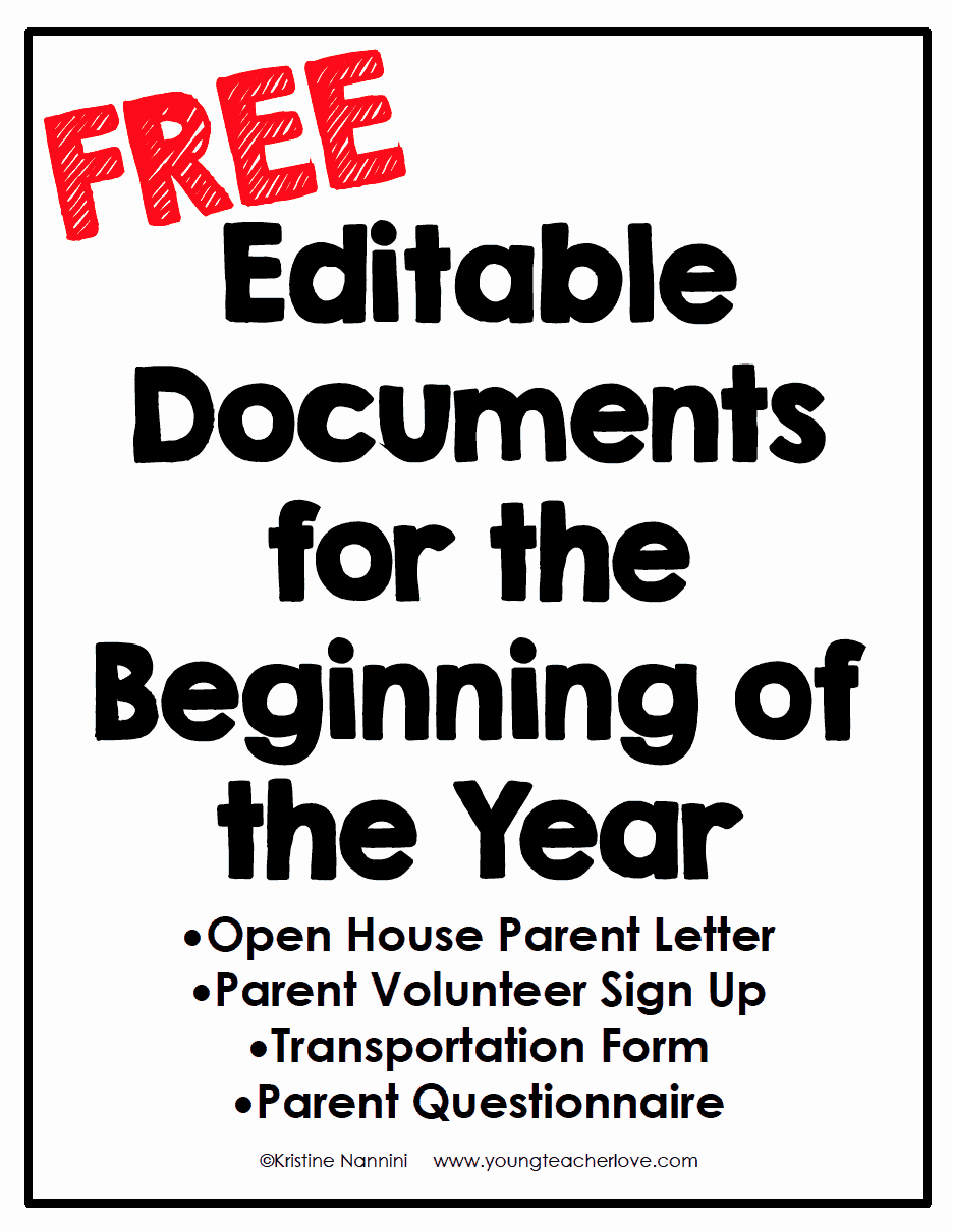 Letters to Parents Template Lovely Open House and Meet the Teacher Night Freebies Young