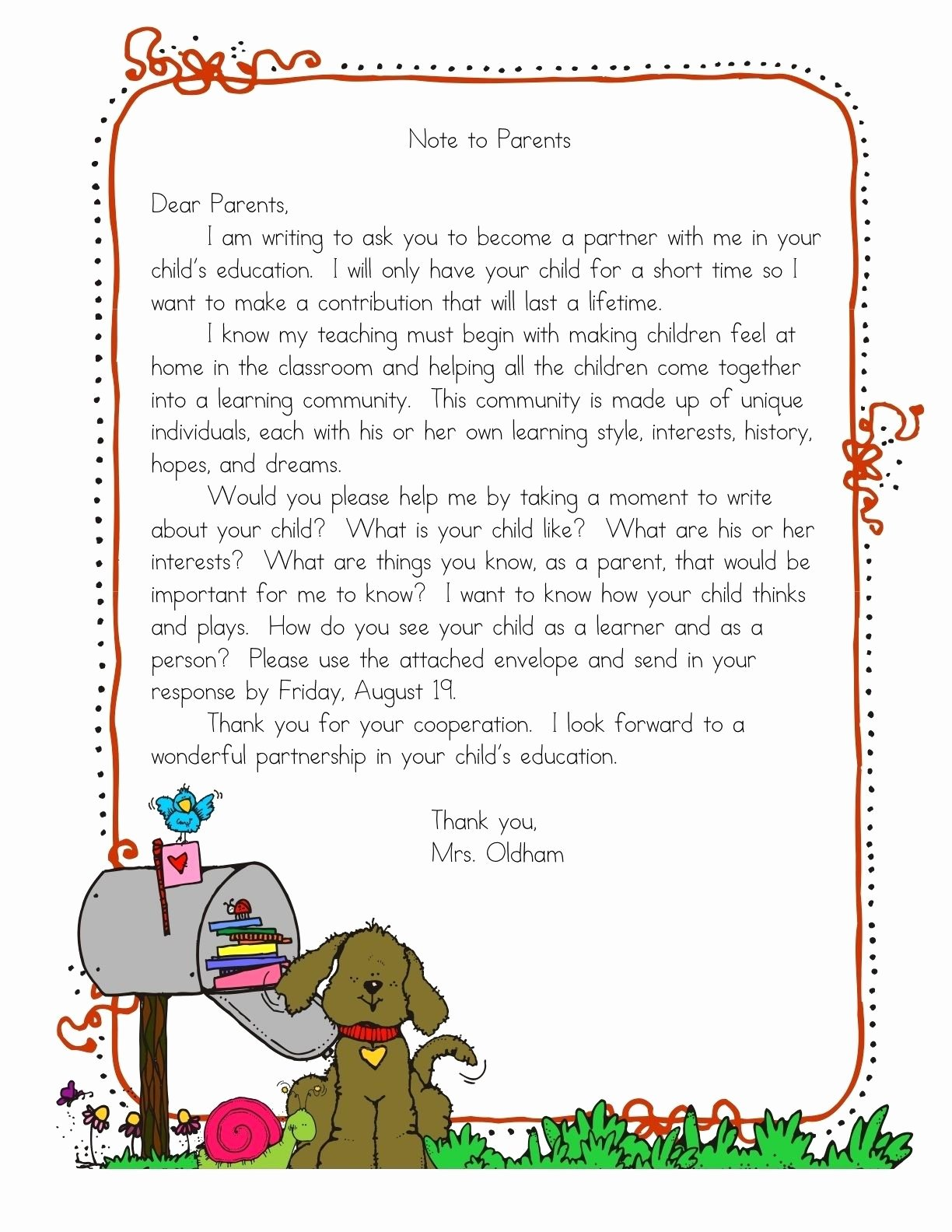 Letters to Parents Template Luxury Letter to Parents On Pinterest