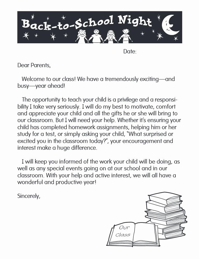 Letters to Parents Template Unique 53 Best Images About Kindergarten Back to School On
