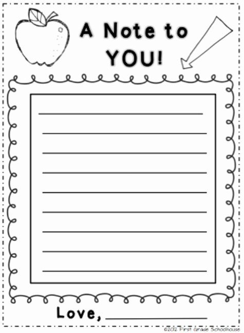 Letters to Parents Template Unique Back to School Night Note From Parents to Students by