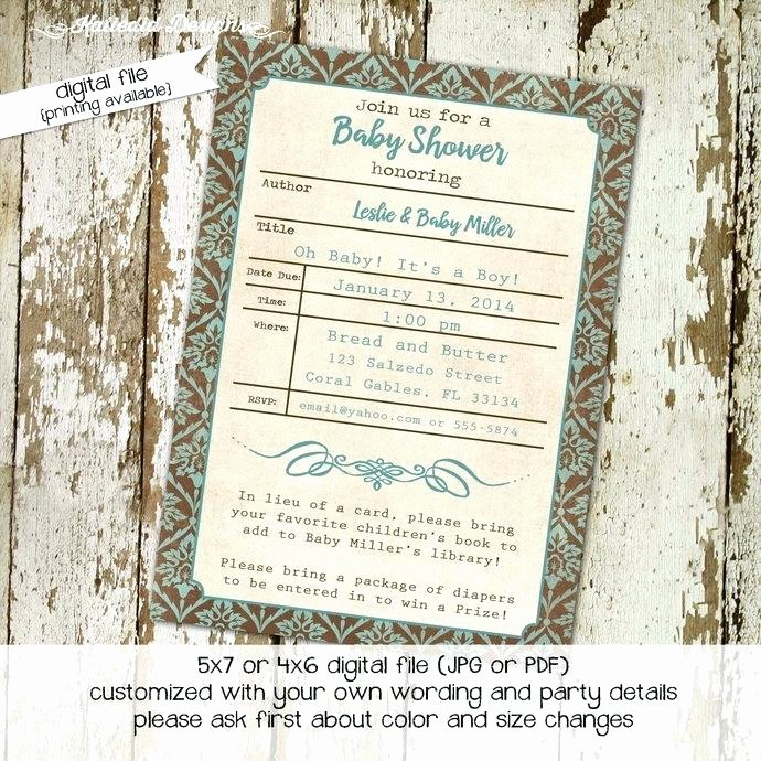 Library Card Invitations Template Best Of Library Card Baby Shower Invitation Template Inspirational