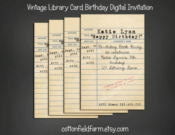 Library Card Invitations Template Fresh 10 Library Cards