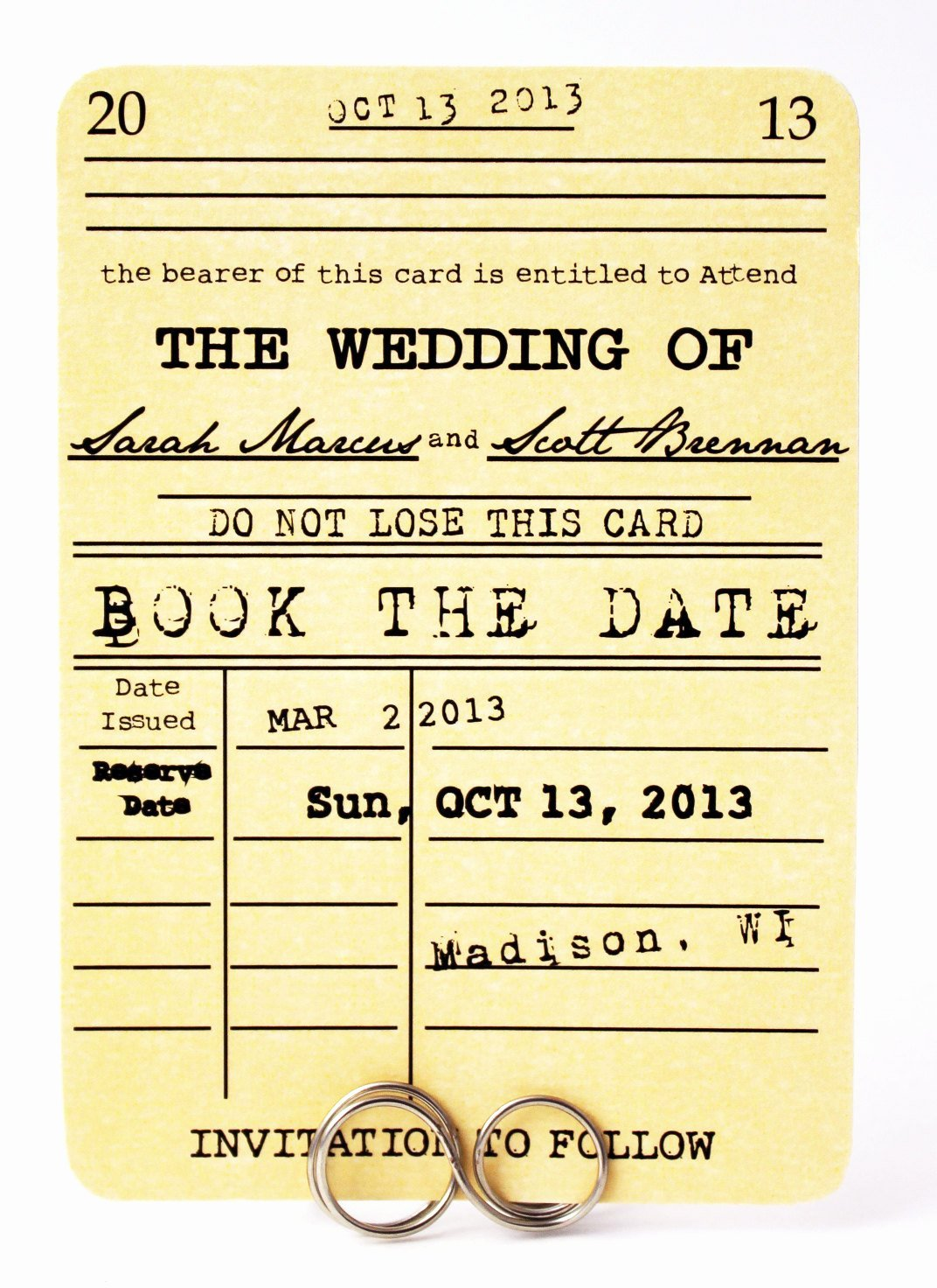 Library Card Invitations Template Inspirational Save the Date Card Book the Date Library Card Wedding