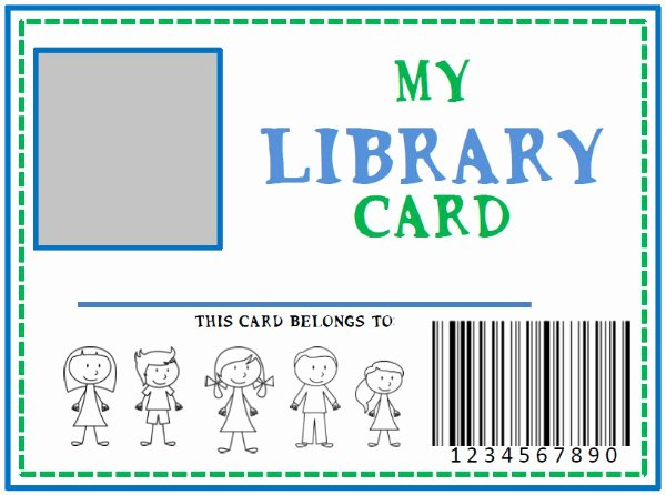 Library Checkout Cards Template Fresh Family Library Diy Pretend Library Card