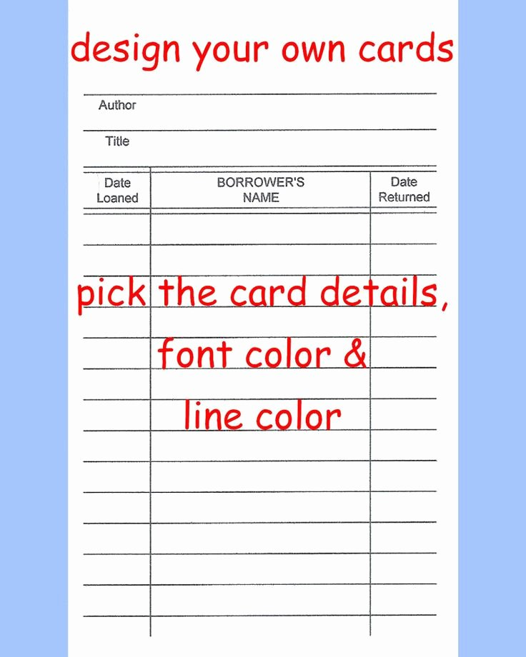 Library Checkout Cards Template Inspirational 48 Best Lending Library Images On Pinterest