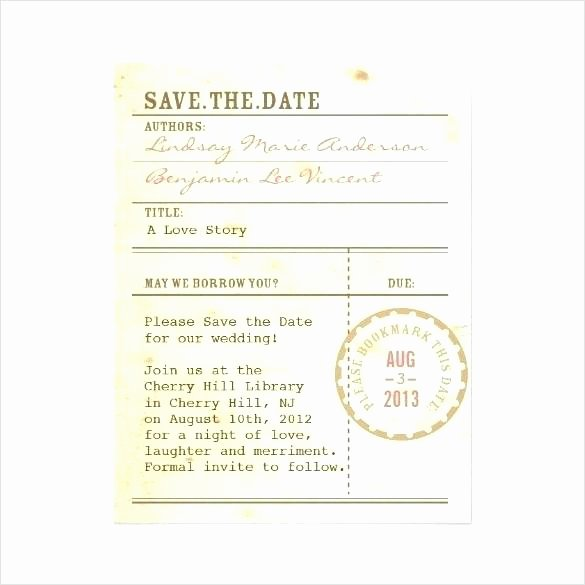 Library Checkout Cards Template Lovely Exclusive Broke ass Bride Wedding Elegant Step Pocket