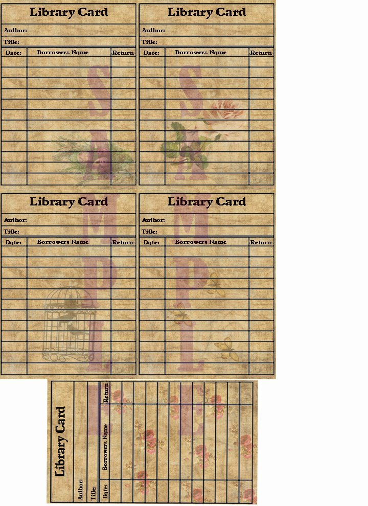 Library Checkout Cards Template Lovely the Etsy Bitsy Scrapper Selling Blog