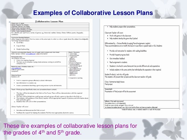 Library Lesson Plan Template Best Of Collaborative Partnerships Between the Library and