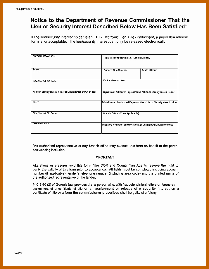 Lien Release Letter Template Awesome 5 6 Lien Release Templates