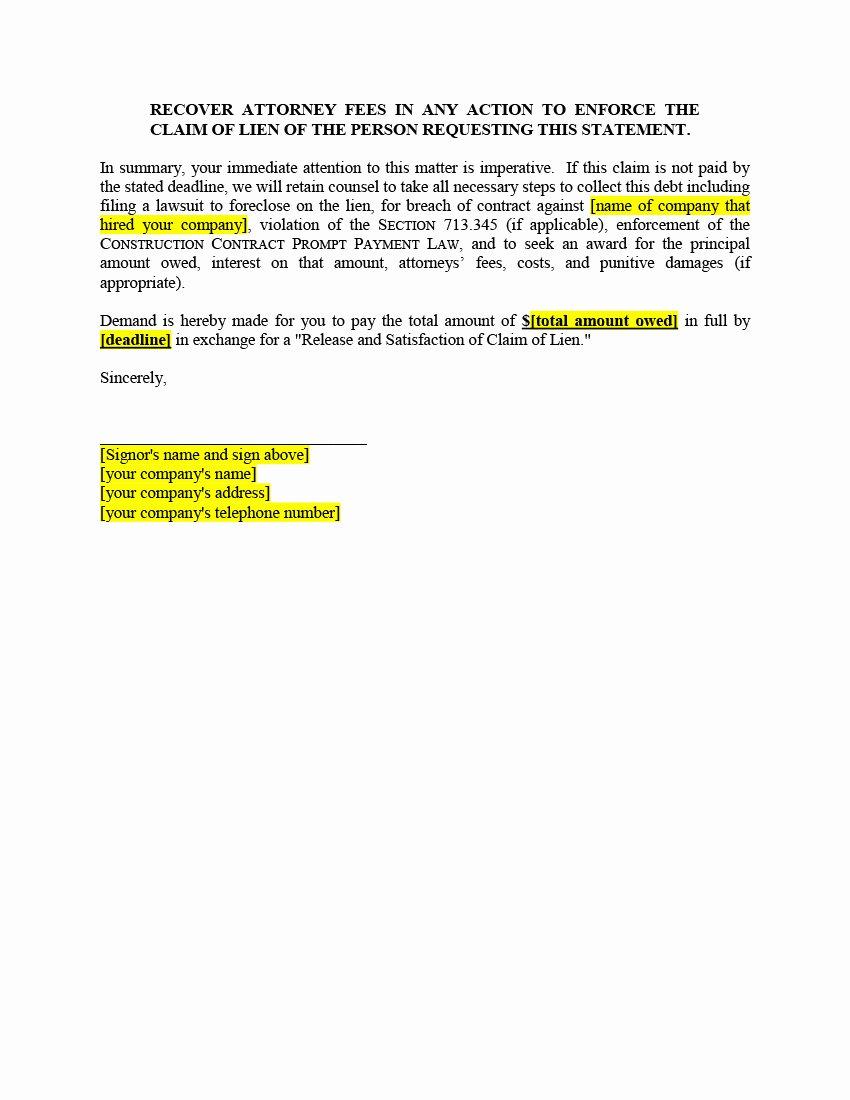 Lien Release Letter Template Inspirational 5 California Mechanic Lien Filing Mistakes