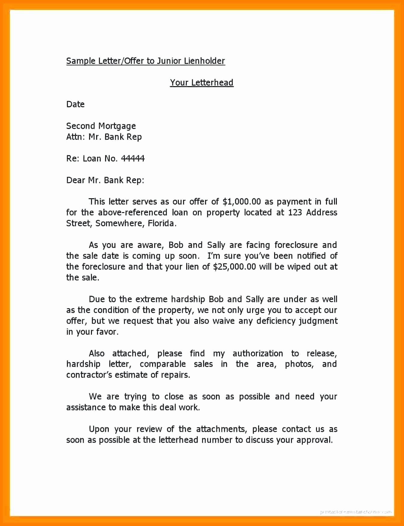Lien Release Letter Template Luxury Notice Lien Letter Template Collection
