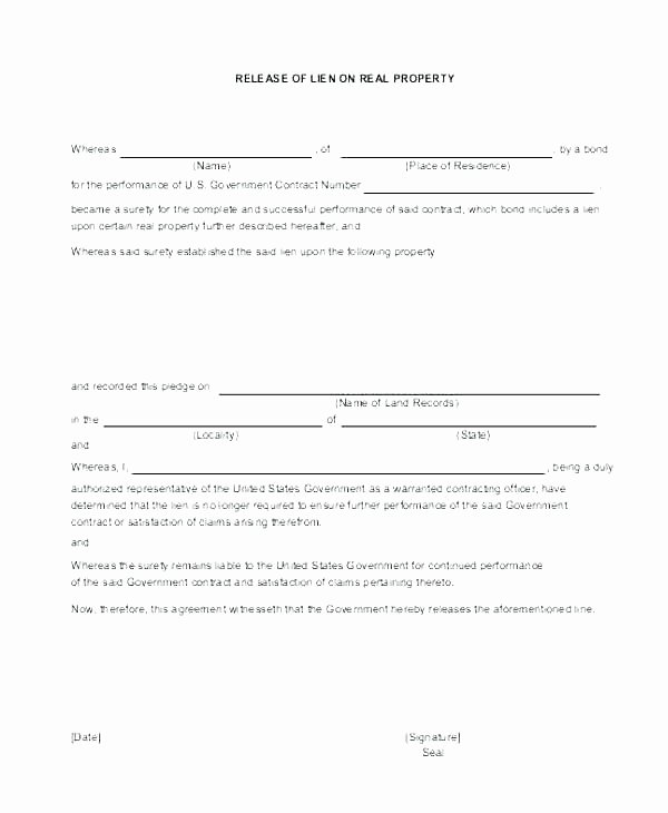 Lien Waiver form Template Best Of Release Waiver Example Partial Lien Template Free