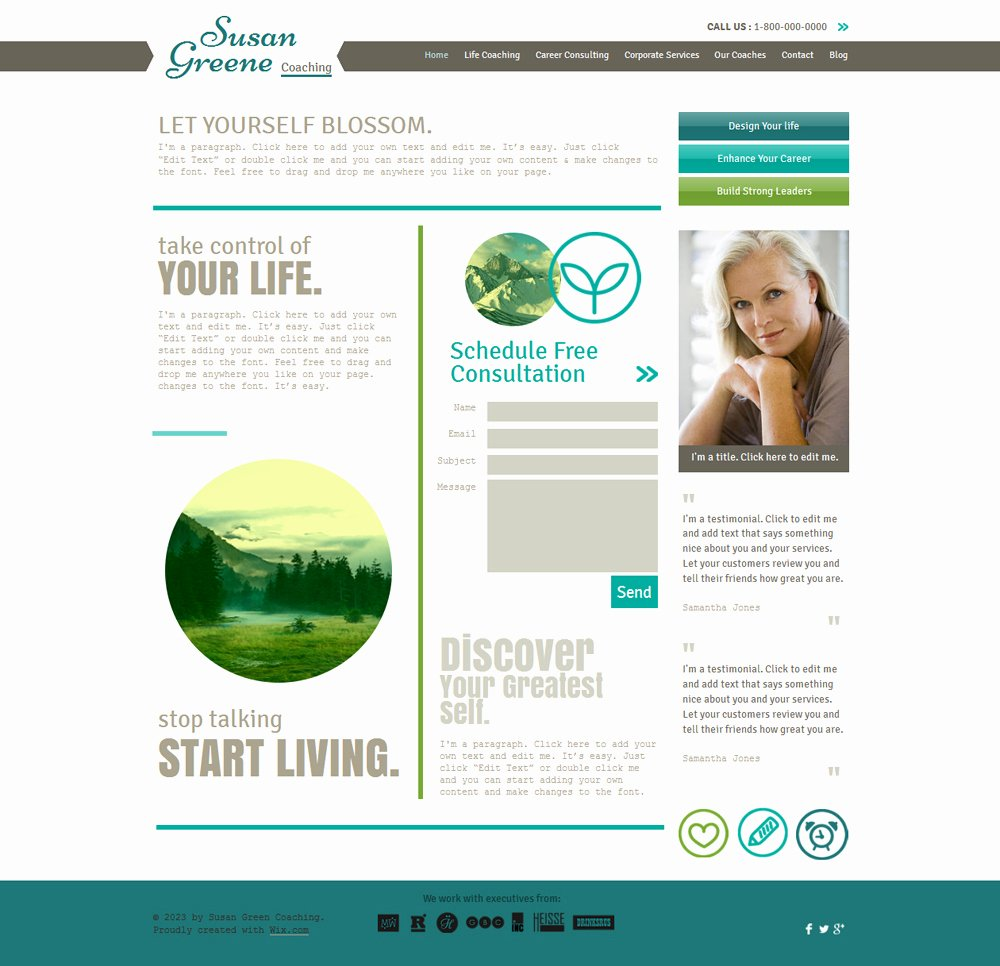 Life Coach Website Template Awesome 15 Best Consulting Coaching Website Templates and themes