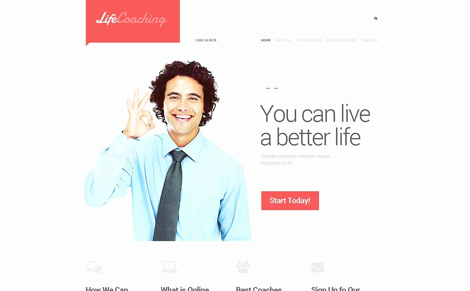 Life Coach Website Template Awesome Life Coach Responsive Website Template