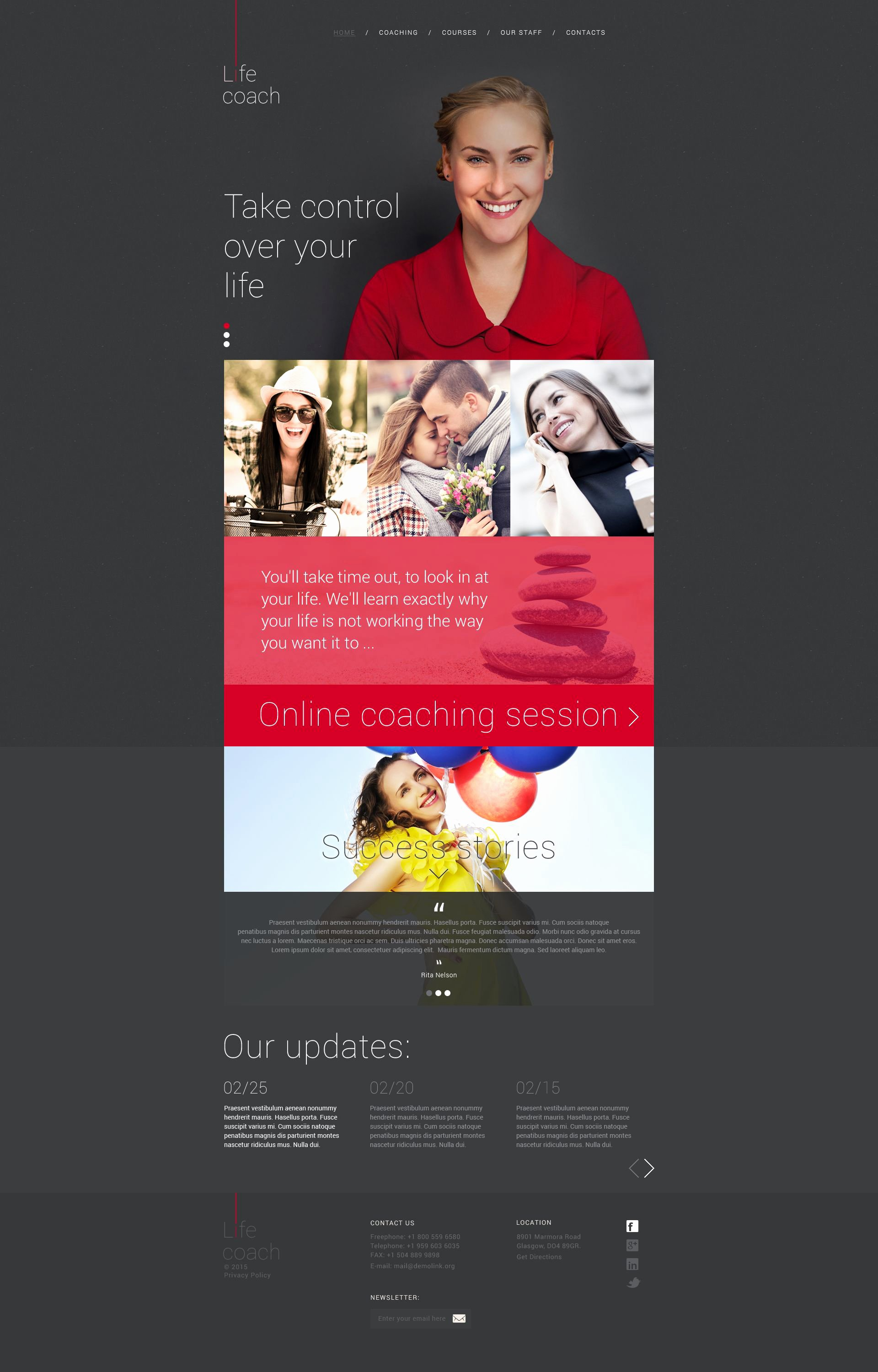 Life Coach Website Template Beautiful Life Coach Website Template