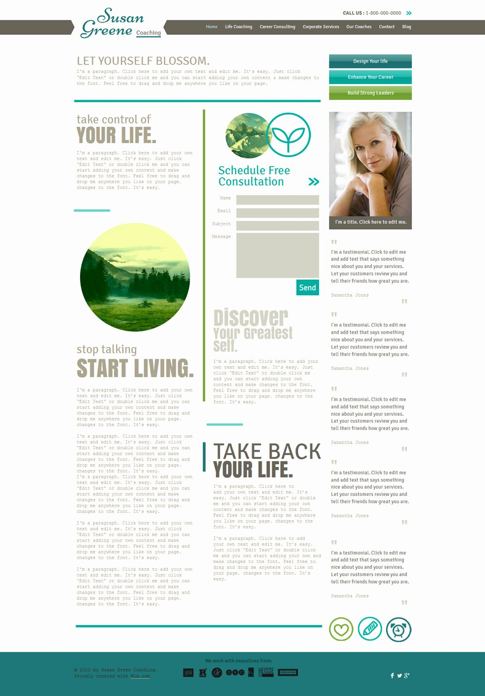 Life Coach Website Template Best Of 15 Best Consulting Coaching Website Templates and themes