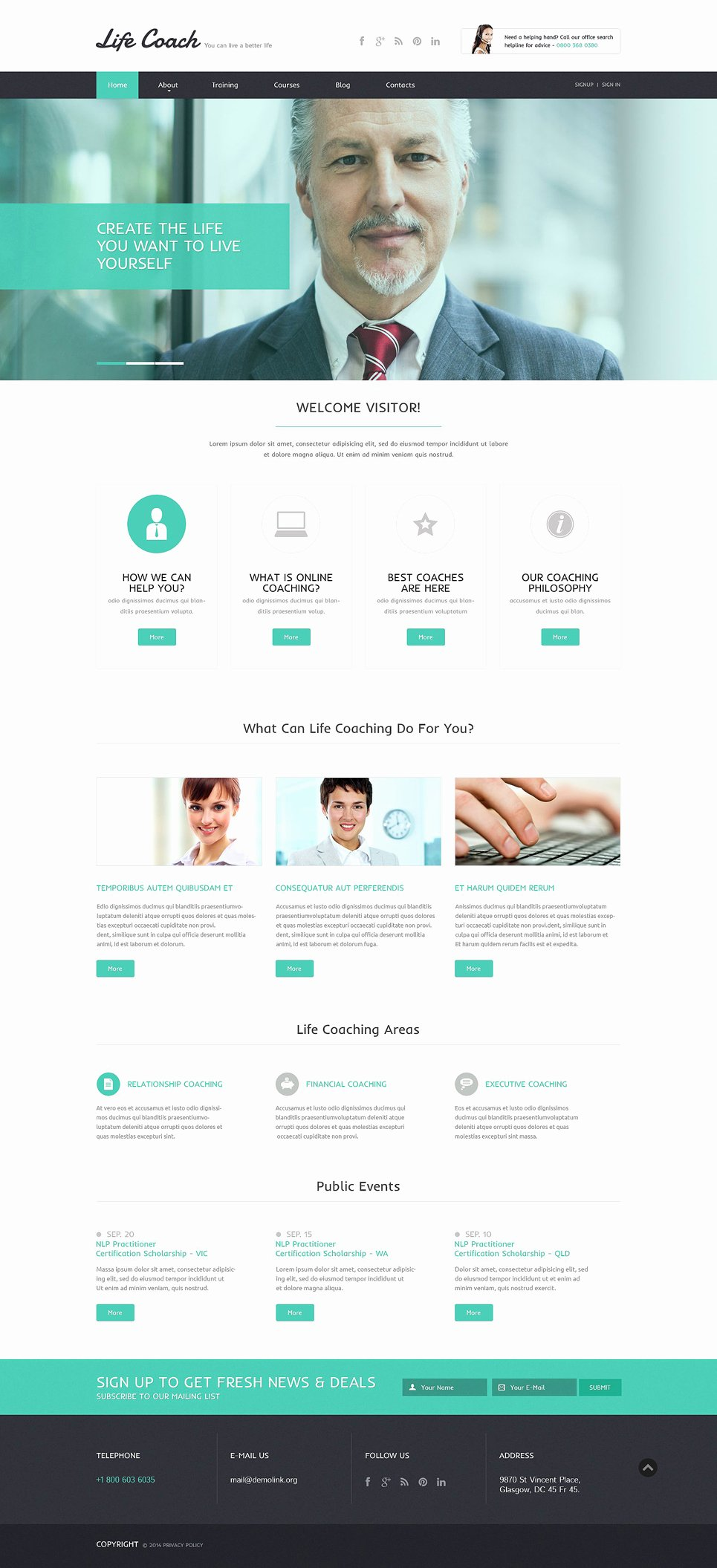 Life Coach Website Template Fresh Life Coach Responsive Website Template