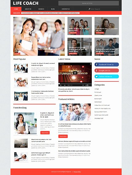 Life Coach Website Template Inspirational Life Coach Wordpress theme