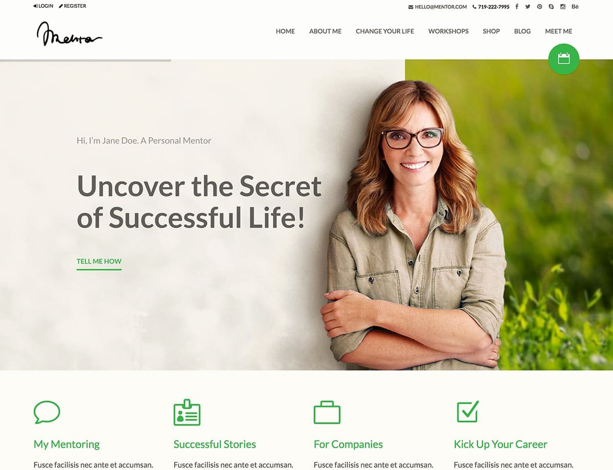 Life Coach Website Template New 10 Best Coaching Wordpress themes 2019 athemes