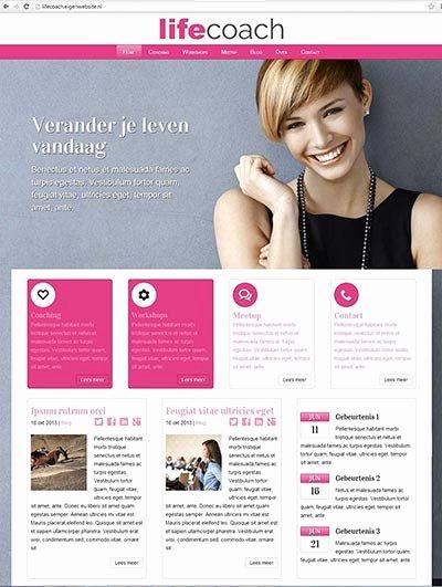 Life Coach Website Template New Eigenwebsite Zelf Een Eigen Website Maken Of Laten Maken