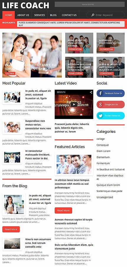 Life Coach Website Template New Life Coach Wordpress theme
