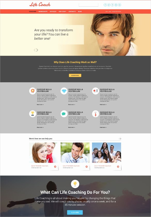 Life Coach Website Template Unique 34 Personal Website themes & Templates