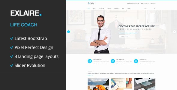 Life Coach Website Template Unique Exclaire Personal Life Coach HTML Template by Template