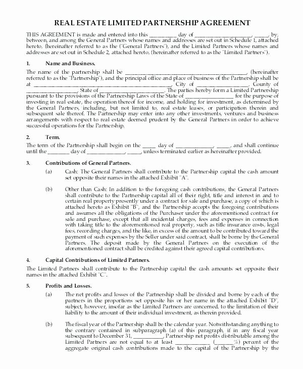 Limited Partnership Agreement Template Inspirational Equity Partnership Agreement Template Limited Pany Uk