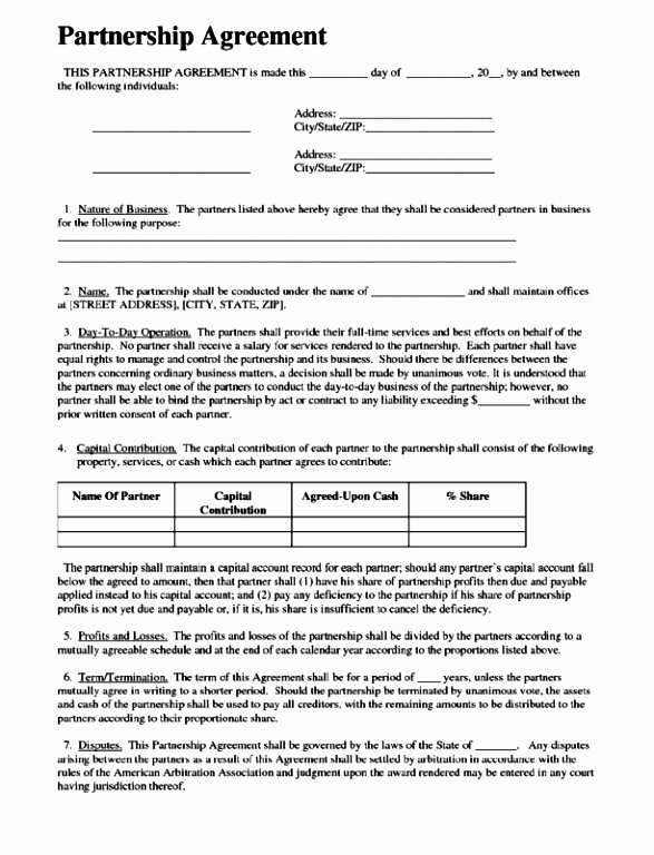 Limited Partnership Agreement Template Unique 5 Limited Partnership Agreement Template Free Erept