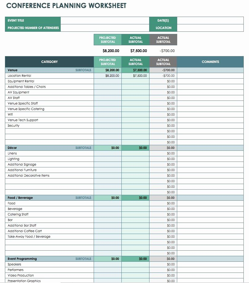 Line Item Budget Template Fresh Conference Bud Template Excel Flexible Revenue formula